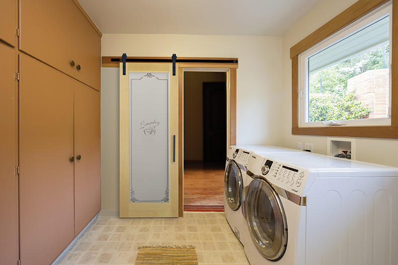 Laundry room sliding
